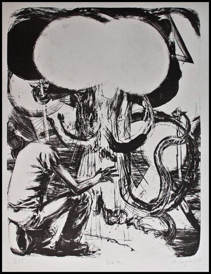 Martin Ziegler, Vision, Lithographie, 1995, 2/5