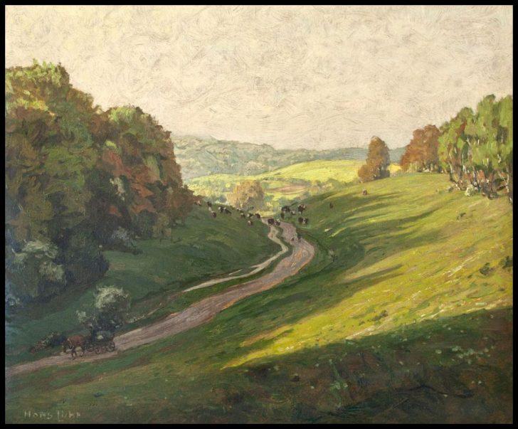Hans Licht, Morgentrift im Mai, Öl auf Pappe, 1921