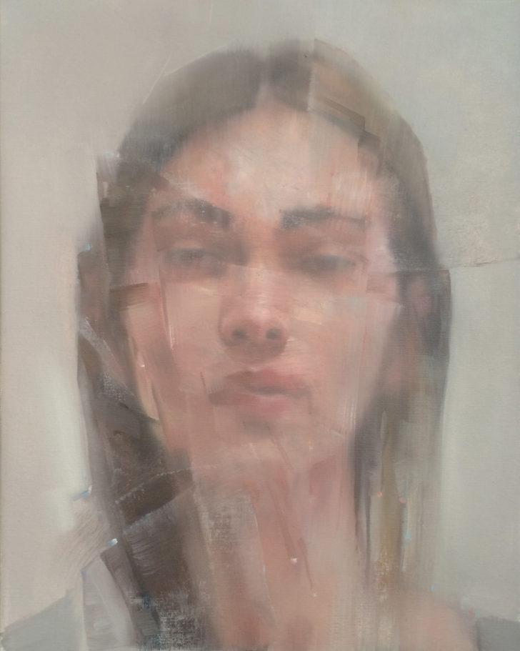 Sebastian Herzau, tgb A.T. I-16, 50x40 cm, 2016, Öl auf Leinwand