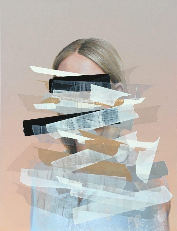 Sebastian Herzau, tgb T_Ch. I-18, 65x50 cm, 2018, Acryl auf Leinwand