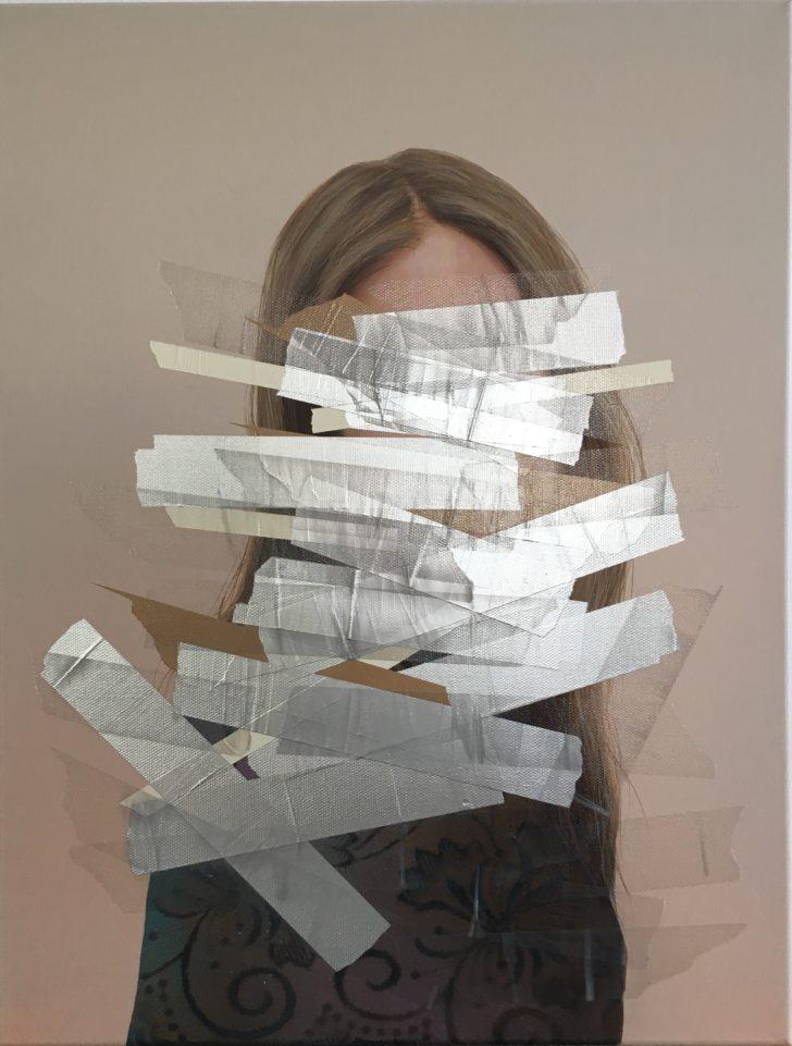 Sebastian Herzau, tgb T_K. I-18, 65x50 cm, 2018, Acryl auf Leinwand