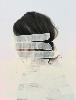 Sebastian Herzau, tgb T_A. I-18, 65x50 cm, 2018, Acryl auf Leinwand