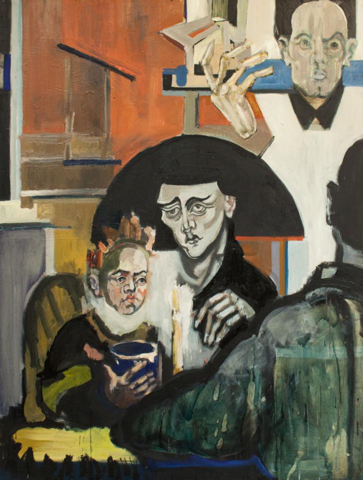 Lena Stühmeier, Restaurant, 100x130 cm, 2018, Öl auf Hartfaser