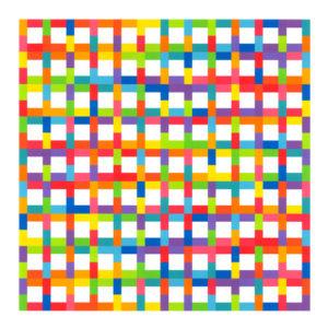 Roxane Pronier, o. T., 75 x 75 cm, Acryl auf Papier, 2018