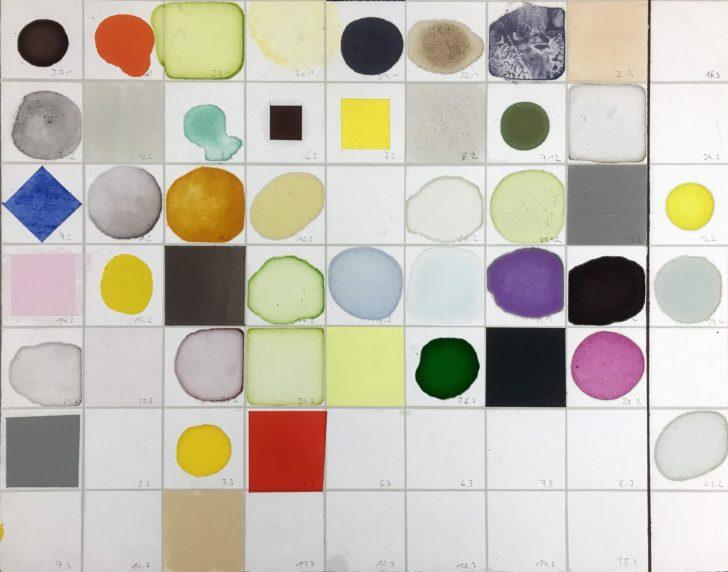 Matten Vogel. daily dripping, Aquarell, Deckfarben, Lacke und Öl