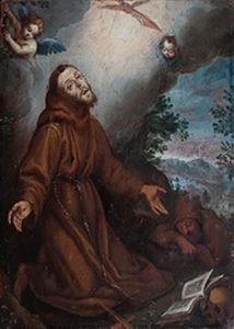 Werkstatt Ludovico Cigoli, Heiliger Franziskus, Tempera/Holz , Anfang 17. Jh.