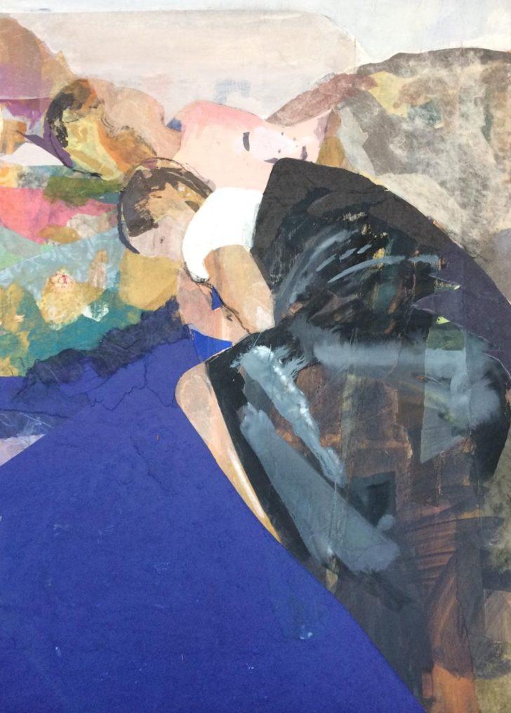 Christiane Wachter, Schlaf, 67 x 48 cm, 2018, Mischtechnik auf Holz