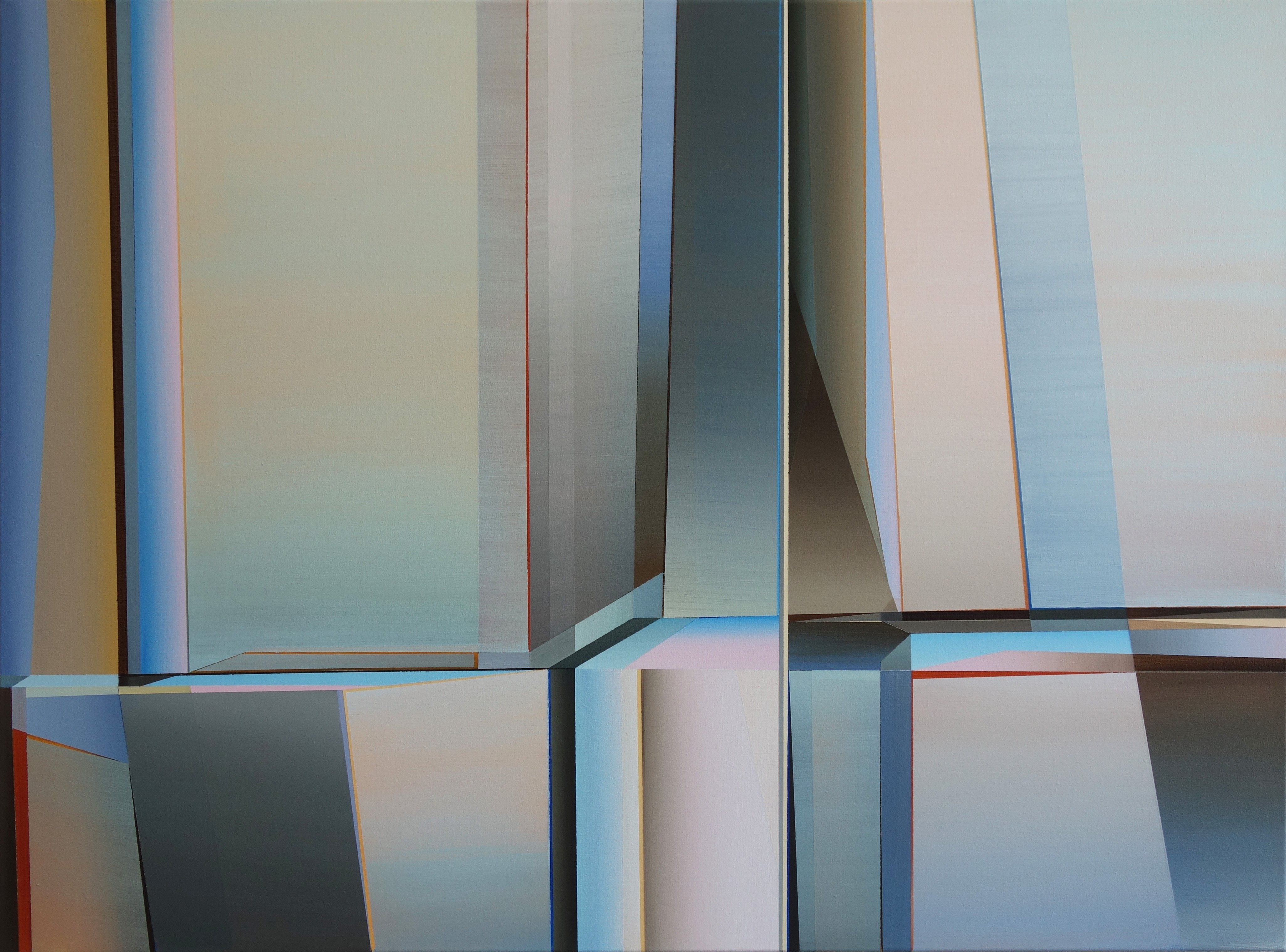 Marten Kirbach, Klar auf klar, 75x100 cm, 2019, Acryl auf Leinwand