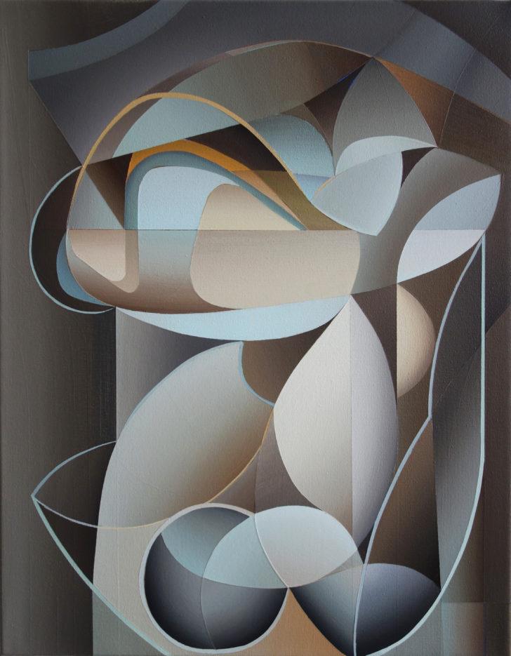 Marten Kirbach, o.T., 50x39 cm, 2019, Acryl auf Leinwand