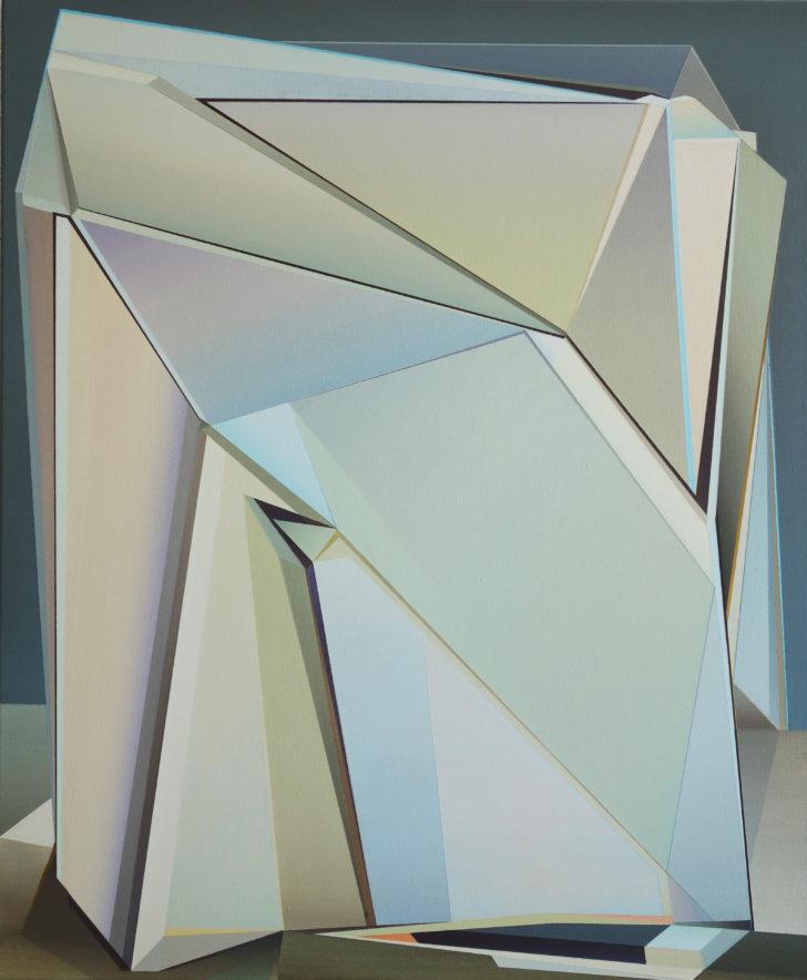 Marten Kirbach, Tektonik. 90x75cm, 2019, Acryl auf Leinwand