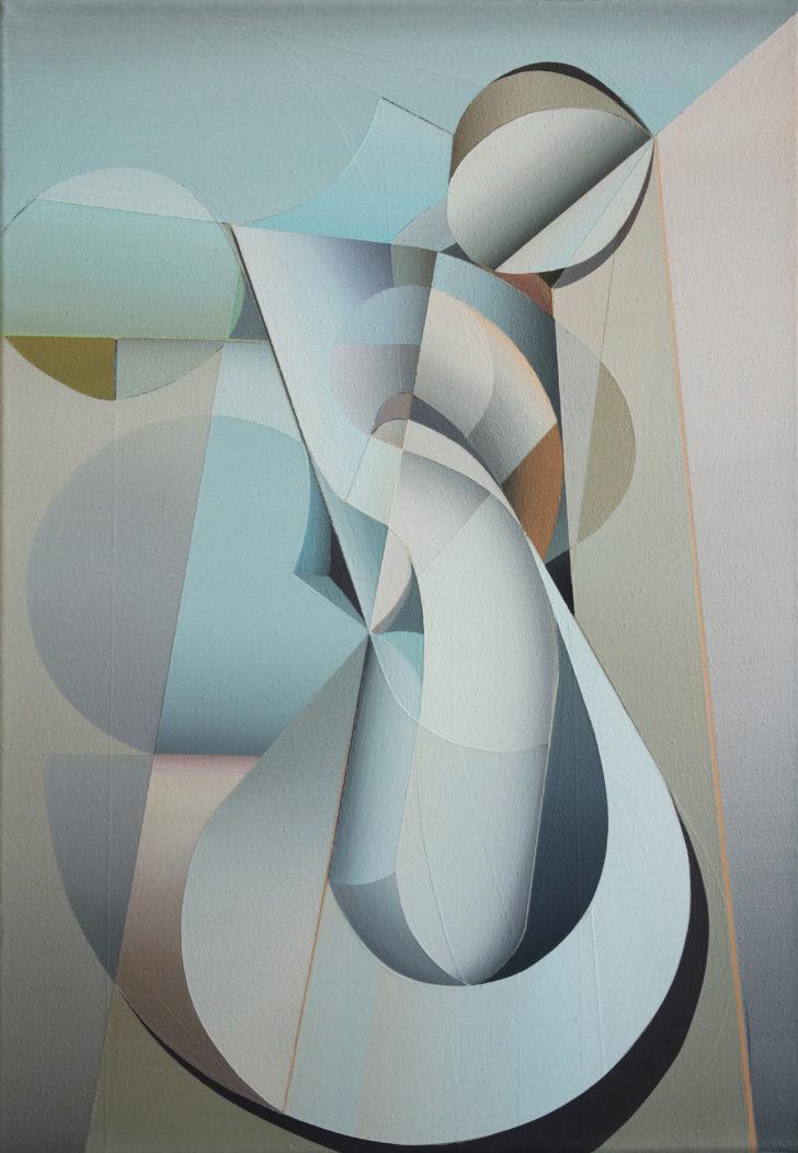Marten Kirbach, Zirkulus, 50x35 cm, 2019, Acryl auf Leinwand