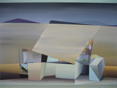 Marten Kirbach, field ritual, 95x125 cm, 2015, Acryl auf Leinwand