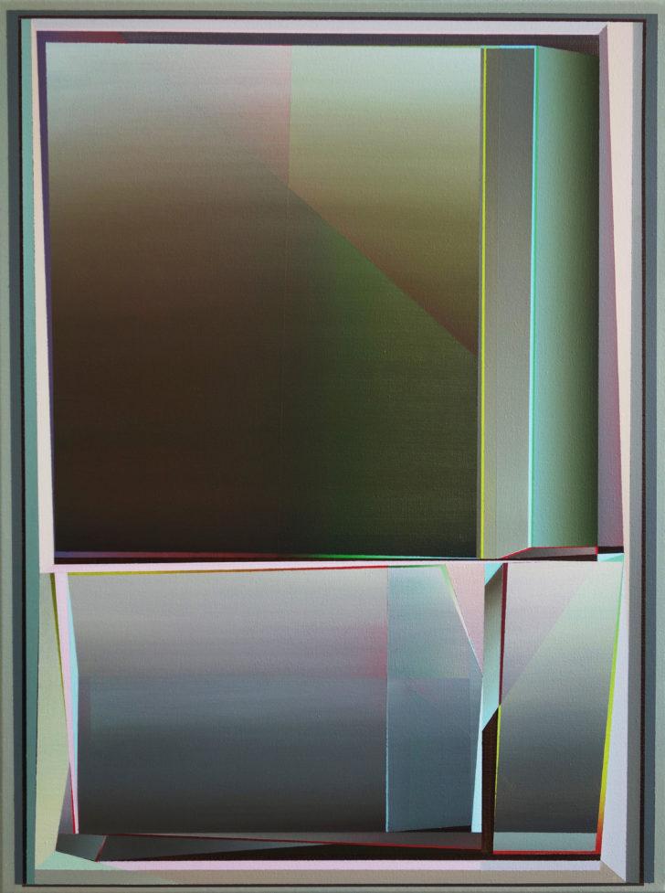 Marten Kirbach, Modul II, 80x60 cm, 2019, Acryl auf Leinwand
