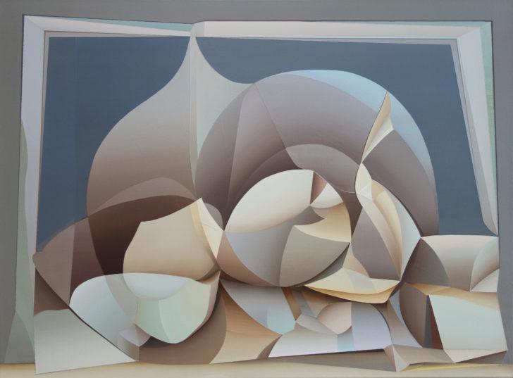 Marten Kirbach, o. T., 75x100 cm, 2018. Acryl auf Leinwand