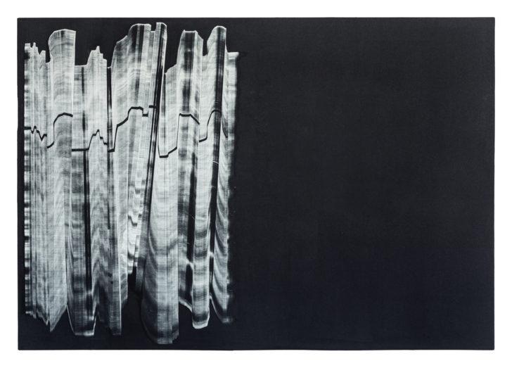 Madeleine Heublein, Spuren I, 60x80 cm, Monotypie im Tiefdruck