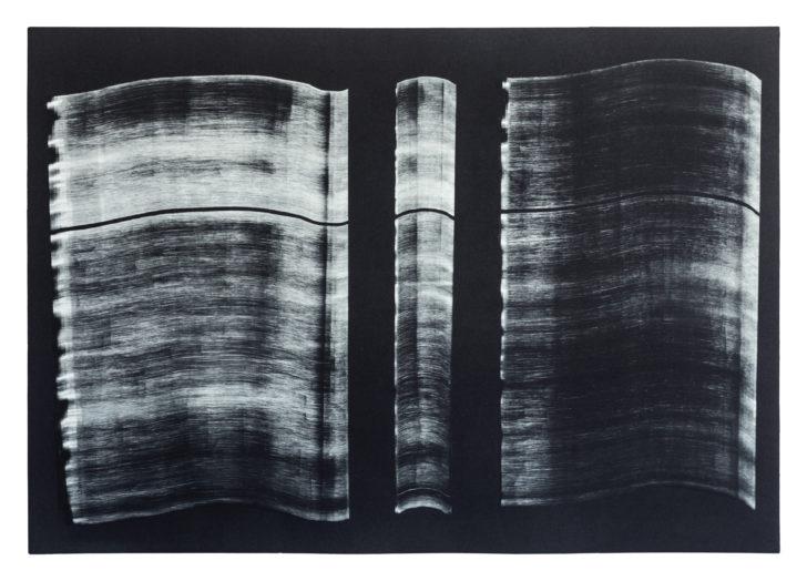 Madeleine Heublein, Spuren II, 60x80 cm, Monotypie im Tiefdruck