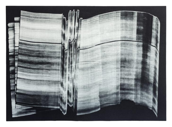 Madeleine Heublein, Spuren III, 60x80 cm, Monotypie im Tiefdruck