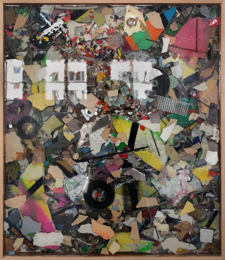 JAZOO Yang, Stolen Time No. 4, 73x63 cm, 2019, Mischtechnik