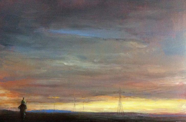 Andreas Wachter, Tiefland, 2019, 20x30 cm, Öl auf MDF