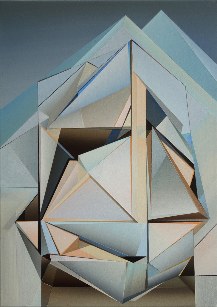 Marten Kirbach, Bergkristall, 70x50 cm, 2019, Acryl auf Leinwand