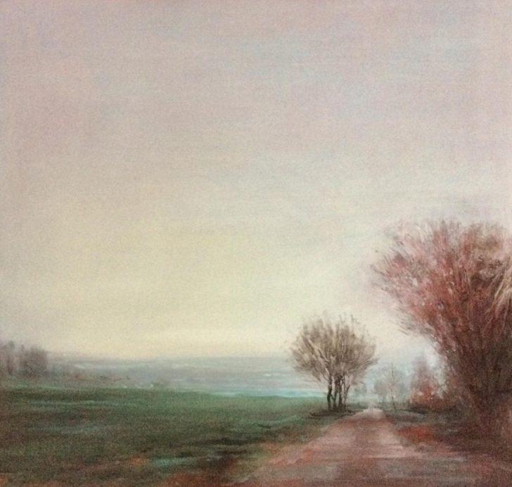 Andreas Wachter, Collmen, 2019, 37x39,5 cm, Öl auf MDF