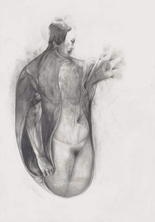 """Sabine Graf, """"Herz"""", 21x29,7 cm, 2018, Bleistift auf Papier"""