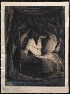 Otto A. Lehmann, o. T., 30x22,5 cm, o. J., Kohlezeichnung