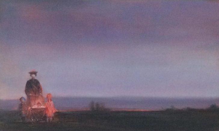 Andreas Wachter, Ausflug, 2019, 30x50 cm, Öl auf MDF