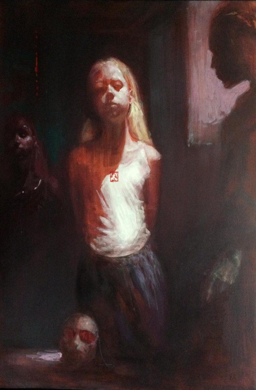 Andreas Wachter, Sophie, 2019, 55x37 cm, Öl auf MDF