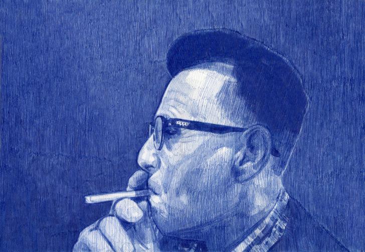 Nadine Wölk, Smoker III.5, 43,5x31,0 cm, 2018, Parker auf Papier