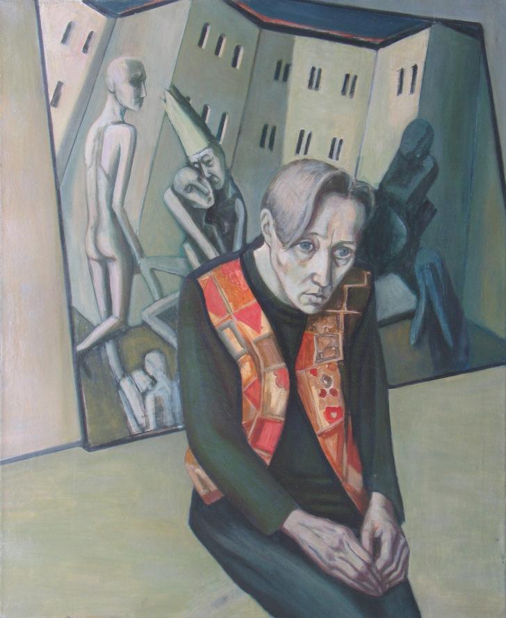 Doris Ziegler, Selbst mit indischer Weste, 110x90 cm, 1994