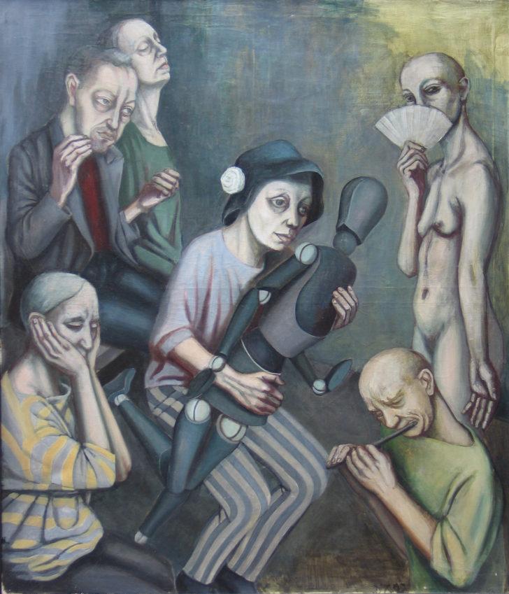 Doris Ziegler, Die Puppe, 140x120 cm, 1992, Öl auf Leinwand