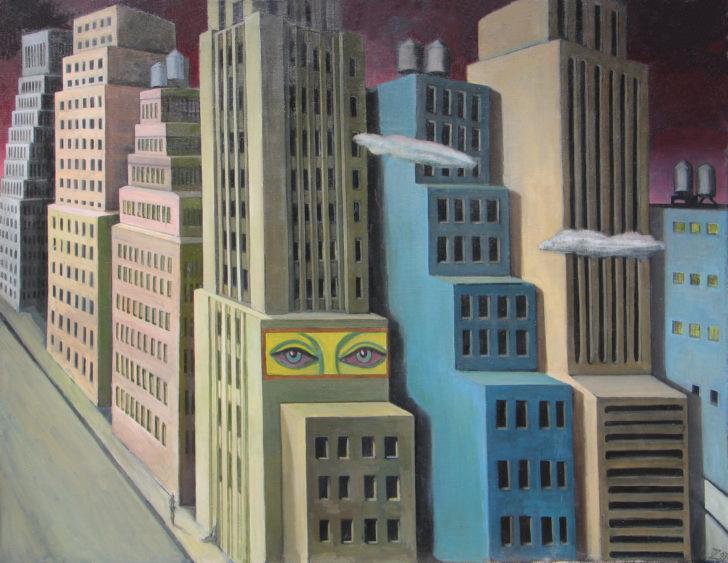 Doris Ziegler, Kleines Manhattan., 85x100 cm, 1991