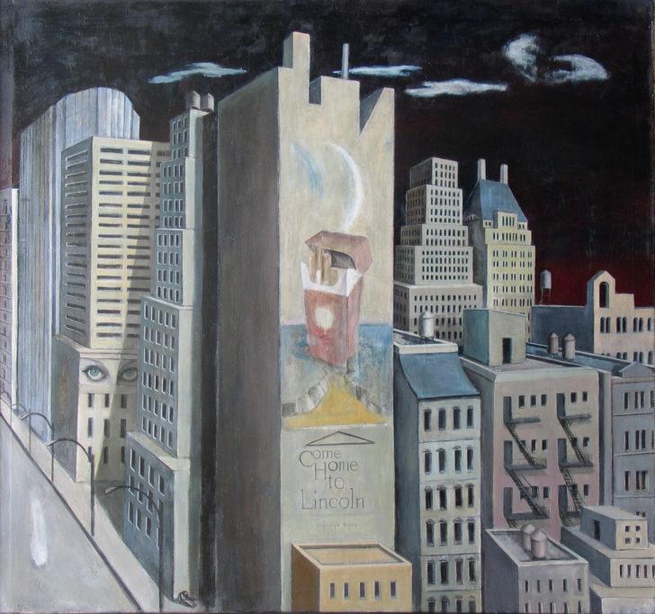 Doris Ziegler, big night/Grosses Manhattan, 130x140 cm, 1992