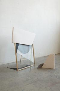 Sun-Kyung Ji, open shape, 2019, paper, glass, frame