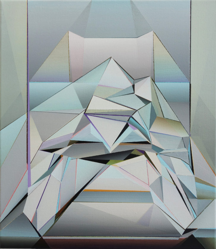 Marten Kirbach, Diamant, 2019, 40x35 cm, Acryl auf Leinwand