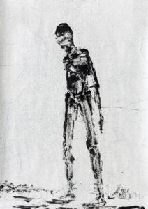 Madeleine Heublein, Empedokles I, 70x50 cm, Monotypie