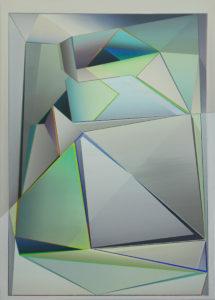 Marten Kirbach, Tektonik II, 70x50 cm, 2019, Acryl auf Leinwand