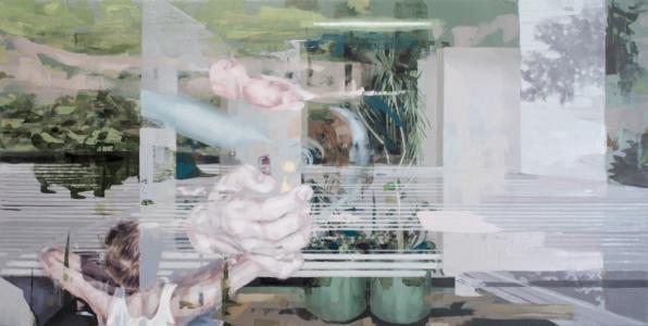 Franz Ehrenberg , Platte, 100x50 cm, 2018, Öl auf Leinwand