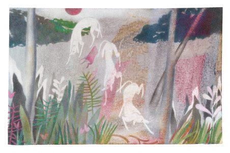 Janosch Dannemann, Auf der Pirsch, 51x34 cm, 2019, Farb- und Bleistift auf Papier