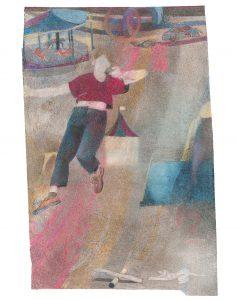 Janosch Dannemann, Karneval, 52x34 cm, 2020, Farb- und Bleistift auf Papier