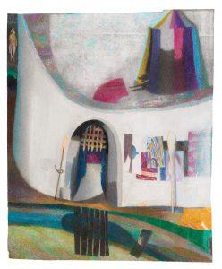 Janosch Dannemann, Schlosshund, 62x53 cm, 2020, Farbstift auf Papier