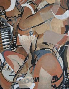 Juana Anzellini, Medianoche, 60x80,5 cm, 2019, Mischtechnik auf Leinwand