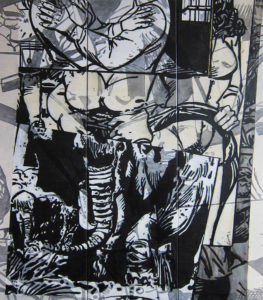 Juana Anzellini, Rüssel, 60x80,5 cm, 2020, Mischtechnik auf Leinwand