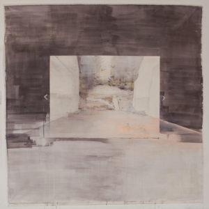 Gabriele Worgitzki, Phantasma (Baulücke), 215x 215 cm, 2019, Acryl auf Leinwand