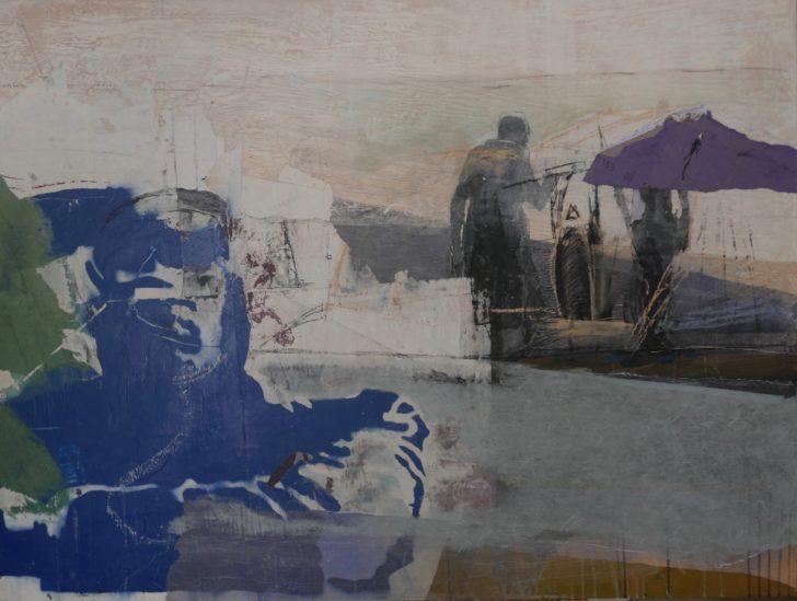Christiane Wachter, non lavorare per il expo, 115x152 cm, 2020, Mischtechnik auf Sperrholz