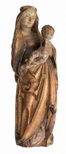 Werkstatt Niklaus Weckmann - Mondsichelmadonna - 114cm - Lindenholz - um 1500 / Sammlung Willi Wiborny - Museumsdirektor Kreismuseum Oberhavel